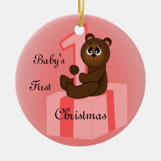Baby Girls First Christmas Christmas Ornament