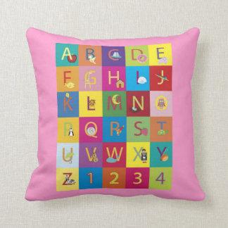Baby Girls Pink Alphabet Pillow