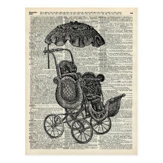 Baby Go Cart child trolley Postcard