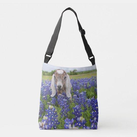 Baby Goat Bluebonnet Crossbody Bag