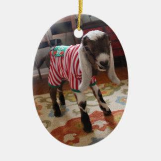 Baby Goat in Pajamas Xmas Ornament