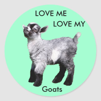 Baby Goat, Love Me  Love My Goats Stickers