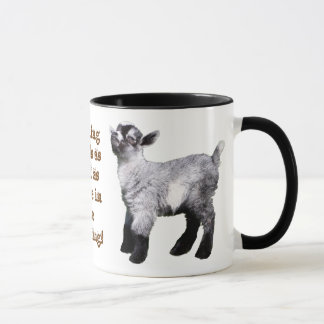 Baby Goat with Nose in Air Mug