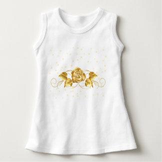 Baby Gold Flower Sleeveless Dress