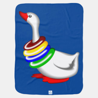 Baby Goose blankie Receiving blue Blanket Swaddle Blankets
