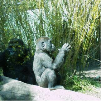 Baby Gorilla Photosculpture Photo Sculpture Key Ring
