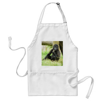 Baby Gorilla Snacking Standard Apron