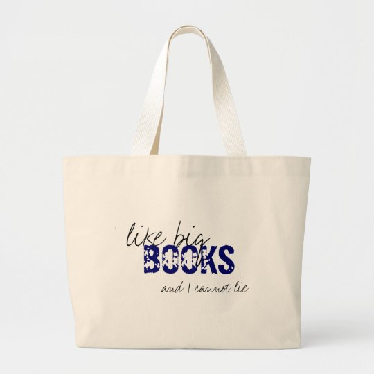 Baby Got Books Large Tote Bag