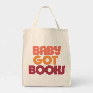 Baby got Books Grocery Tote Bag