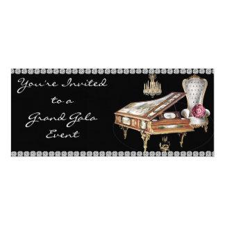 """Baby Grand Gala Event Invitation 4"""" X 9.25"""" Invitation Card"""