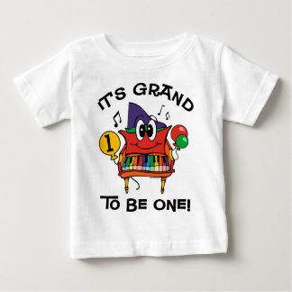 Baby Grand Piano 1st Birthday Baby T-Shirt