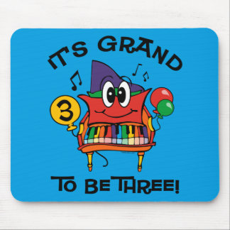 Baby Grand Piano 3rd Birthday Mousepads