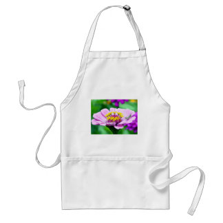 Baby Grasshopper on  Pink Zinnia Adult Apron
