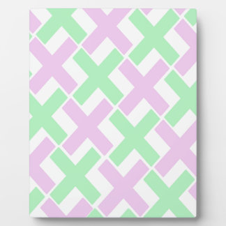 Baby Green and Lavender Xs Plaque