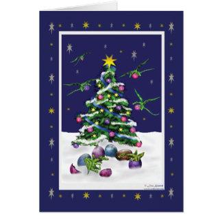Baby Green Dragons Christmas Card