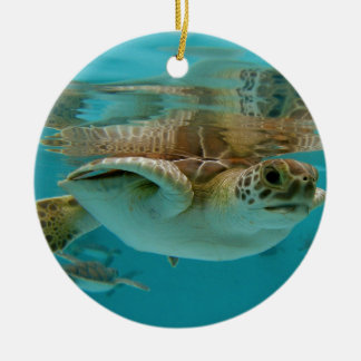 Baby Green Sea Turtle Christmas Ornament