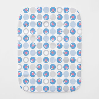 Baby Grover Circle Pattern Burp Cloth