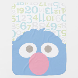 Baby Grover Face Baby Blanket