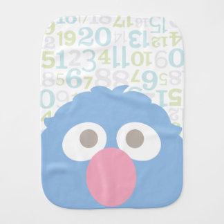 Baby Grover Face Burp Cloth