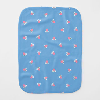 Baby Grover Face Shape Pattern Burp Cloth