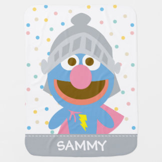 Baby Grover in Armor   Add Your Name Receiving Blanket