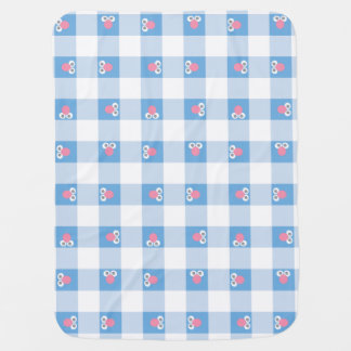 Baby Grover Plaid Pattern Baby Blanket