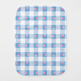 Baby Grover Plaid Pattern Burp Cloth