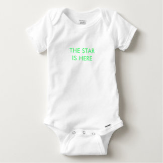 Baby grow - 'star is here' baby onesie