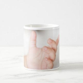 Baby hand coffee mug