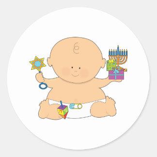 Baby Hanukkah Classic Round Sticker