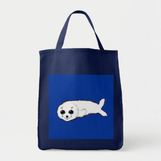 Baby Harp Seal Canvas Bags