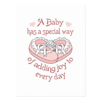BABY HAS A SPECIAL WAY POSTCARD