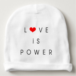 Baby hat love is power baby beanie
