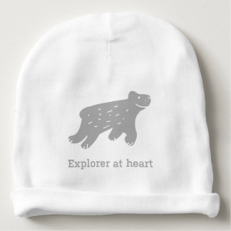 "Baby hat with dog ""Explorer at heart"" Baby Beanie"