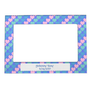 Baby Hearts Pattern Magnetic Frame