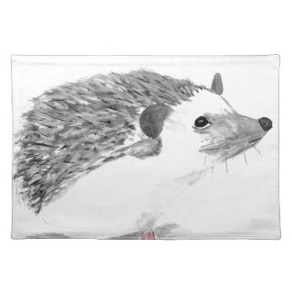 Baby hedgehog animal placemat