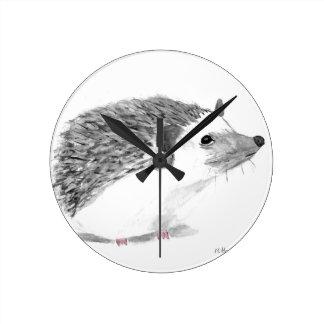 Baby hedgehog animal round clock