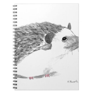 Baby hedgehog animal spiral notebooks