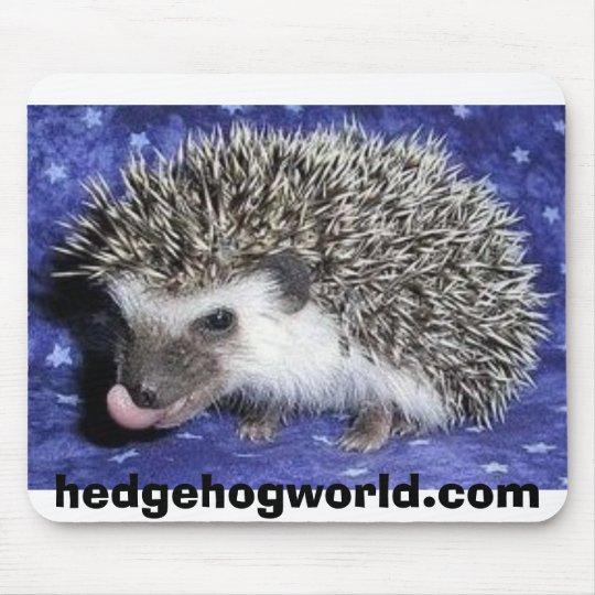 baby hedgehog tongue mousepad