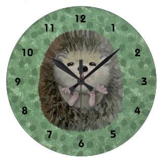 Baby Hedgehog Wall Clock