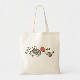 Baby Hedgehog's Red Balloon Canvas Bag