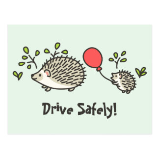 Baby Hedgehog's Red Balloon Post Card