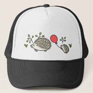 Baby Hedgehog's Red Balloon Trucker Hat