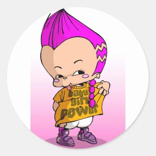 Baby Hip Hop Lil Round Sticker
