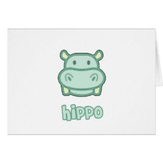 Baby Hippo Cartoon Cards