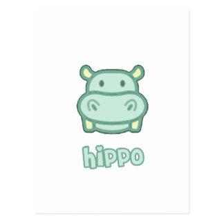 Baby Hippo Cartoon Post Cards