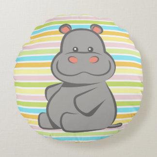 Baby Hippo Round Cushion