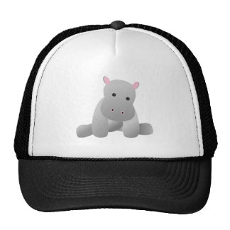 Baby Hippo Toy Mesh Hat