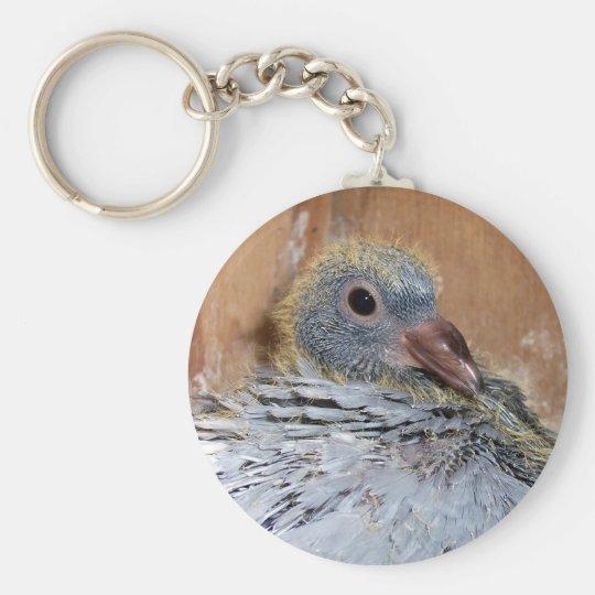 Baby Homing Pigeon Keychain