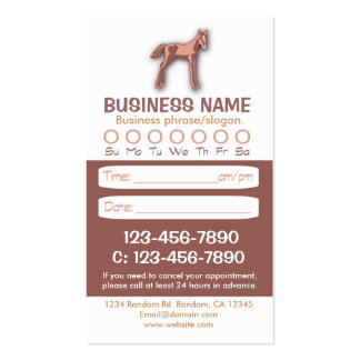 Baby horse veterinarian appointment cards business card template